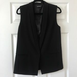 Express sleeveless blazer